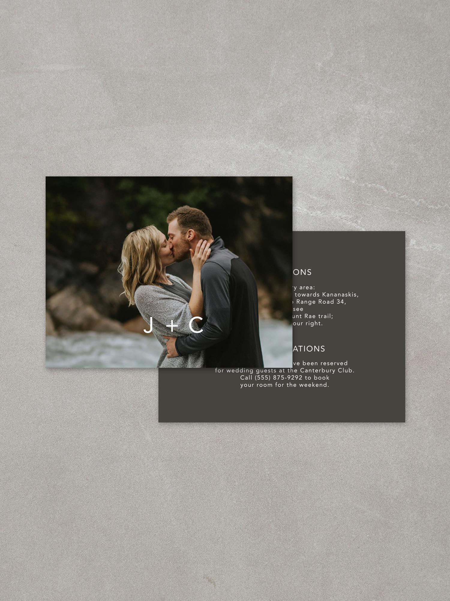 Forelsket // Details Card in slate ink background