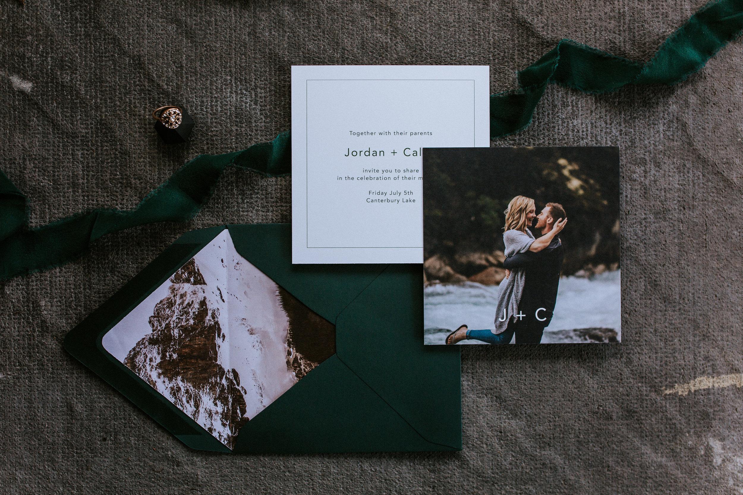 Forelsket Semi Custom Wedding Invitations