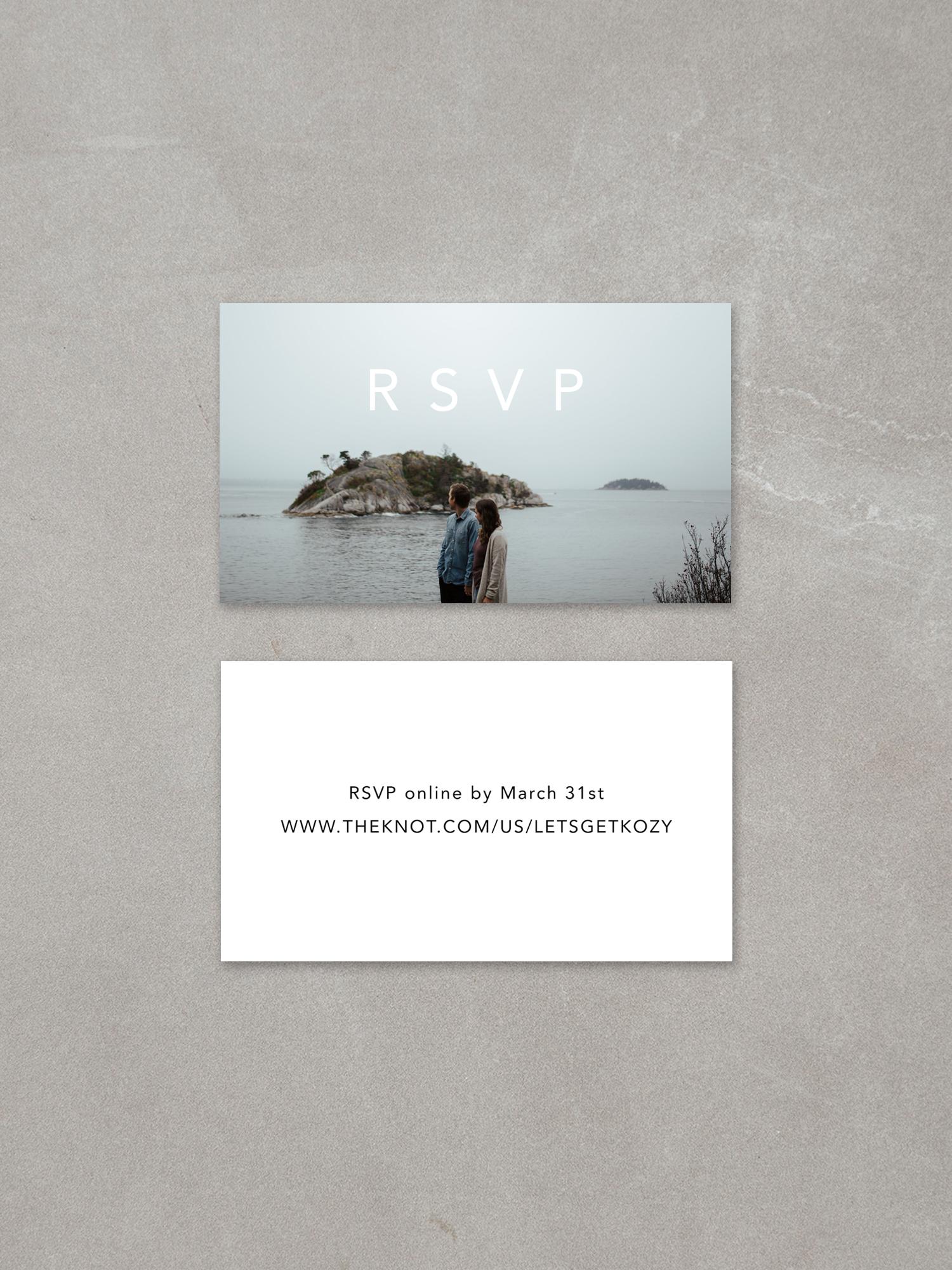 Forelsket // Mini RSVP Card in ebony ink