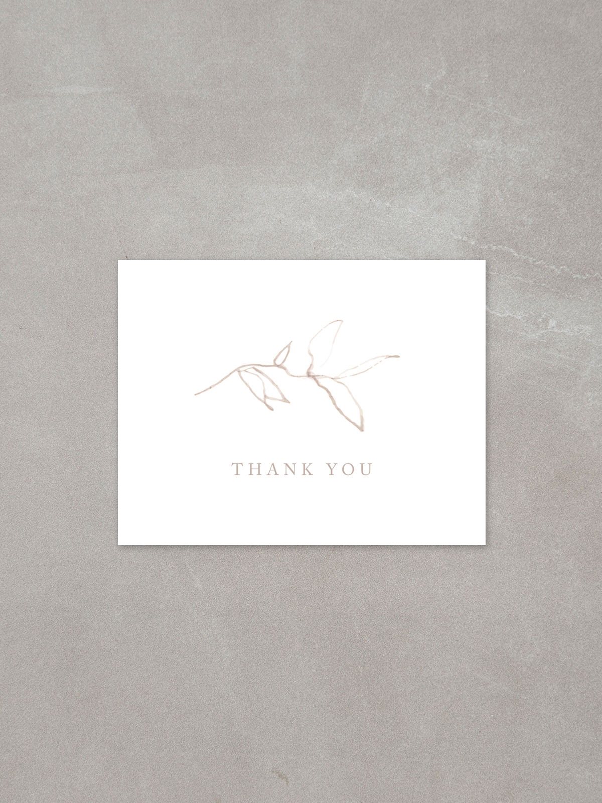 Elysian // Thank You Card in sandstone