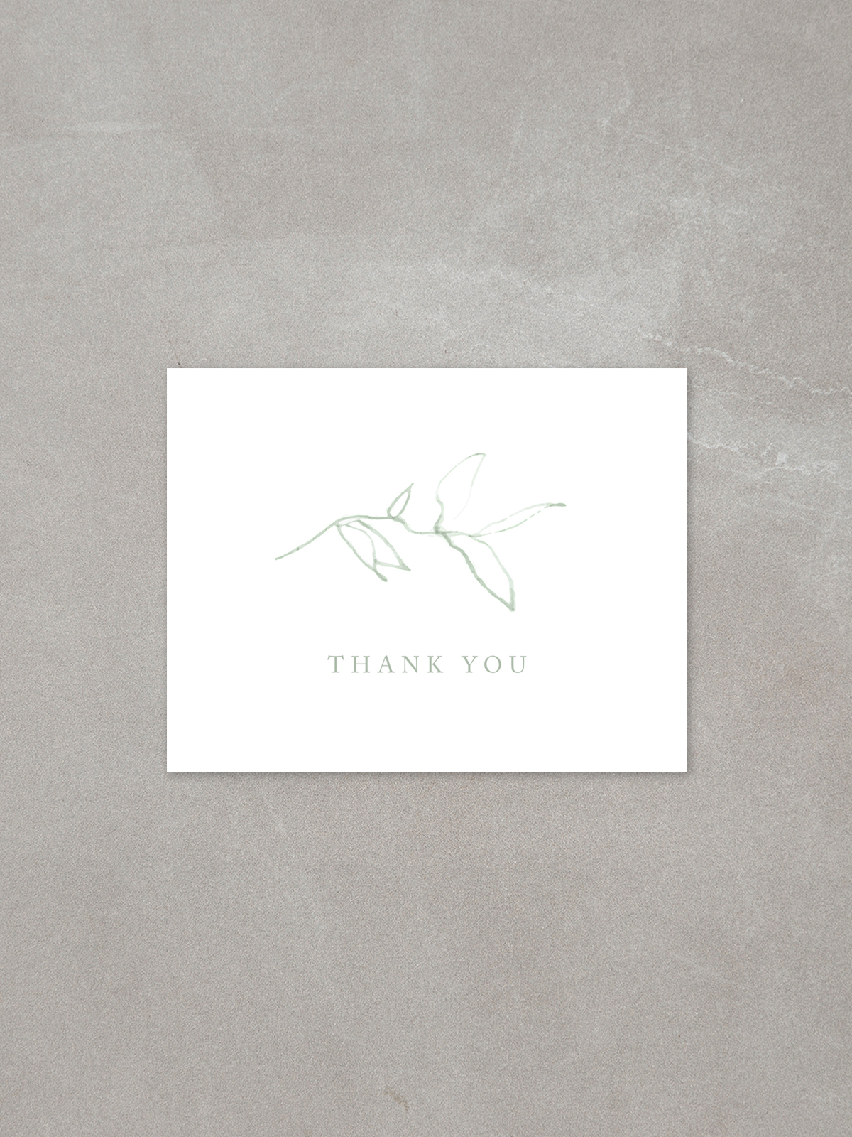 Elysian // Thank You Card in cement