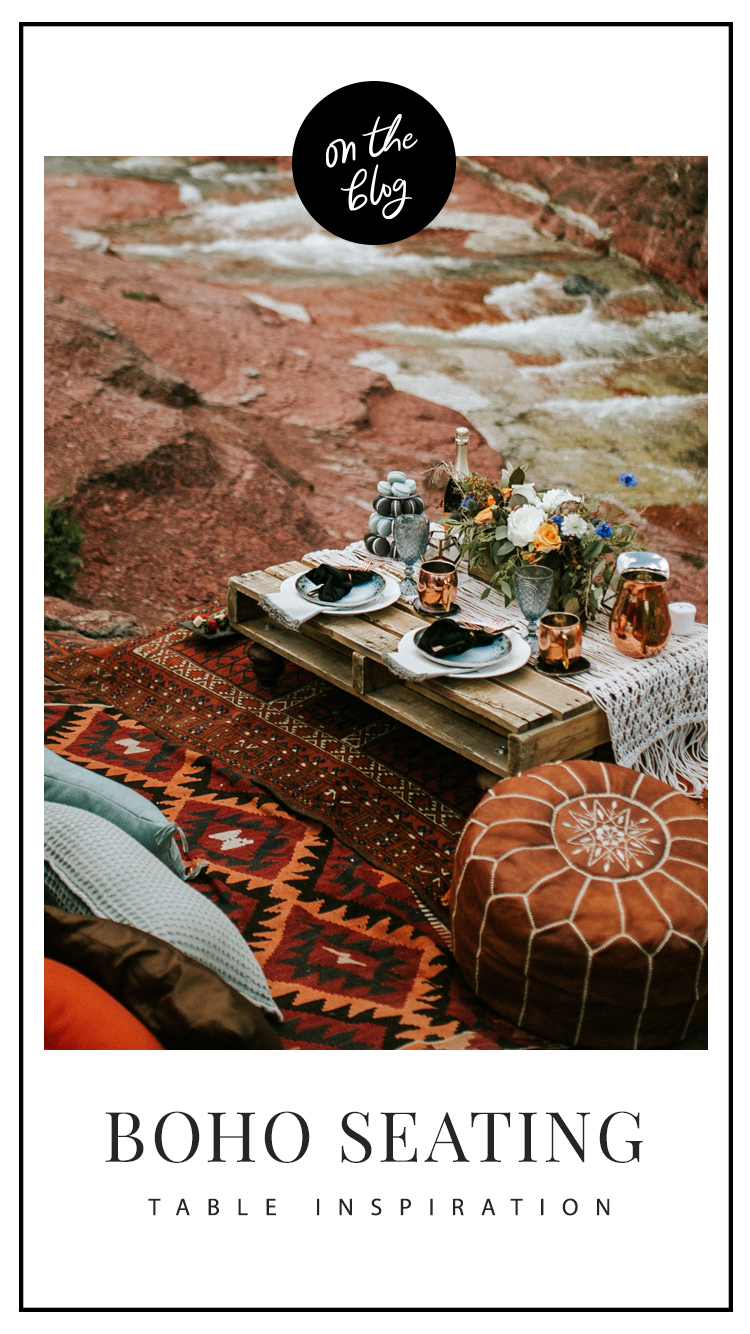 Modern Boho Styled Shoot // Bohemian Wedding Styling // On the Bexley Blog