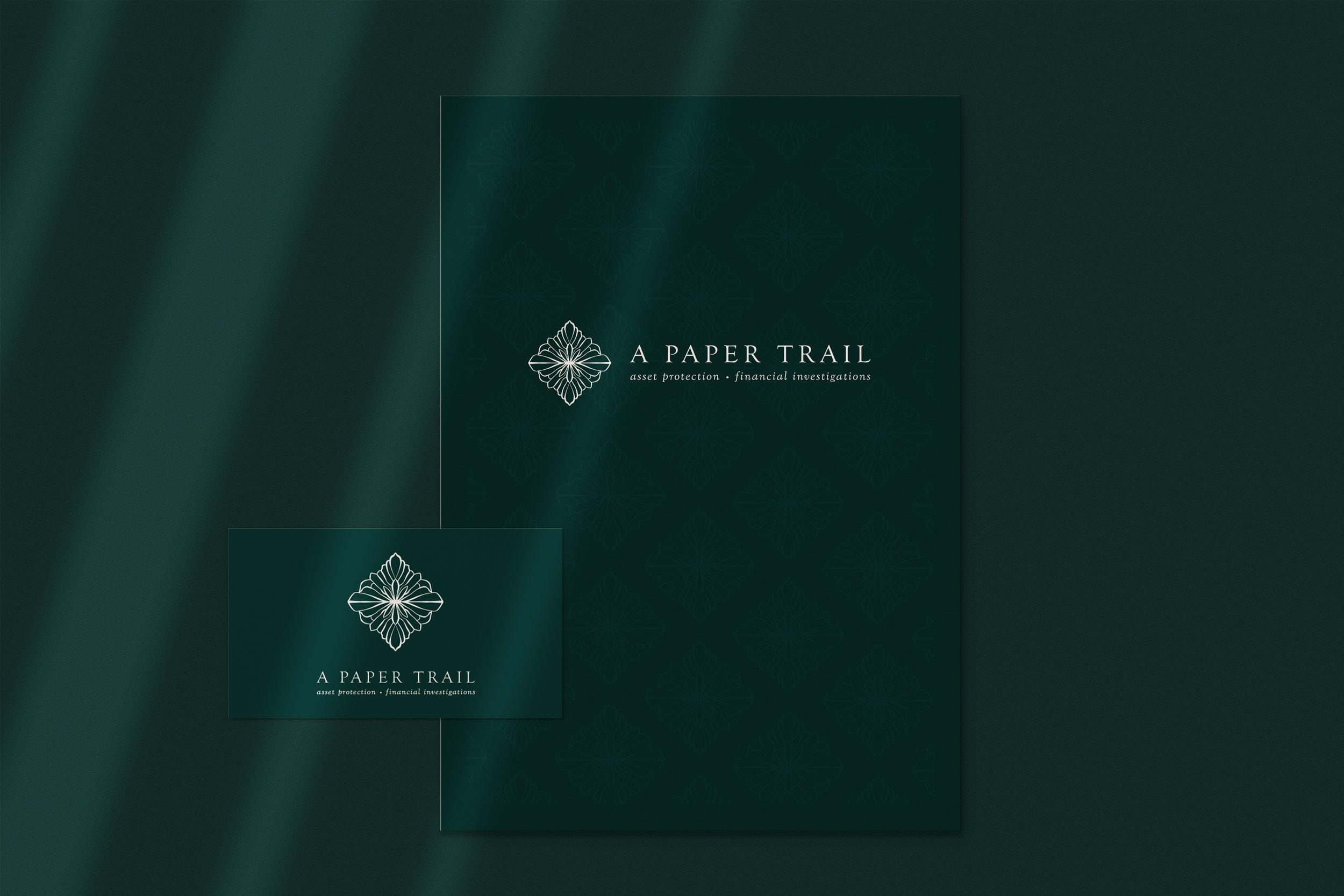 A Paper Trail // Logo Design // Bexley Design Co Branding