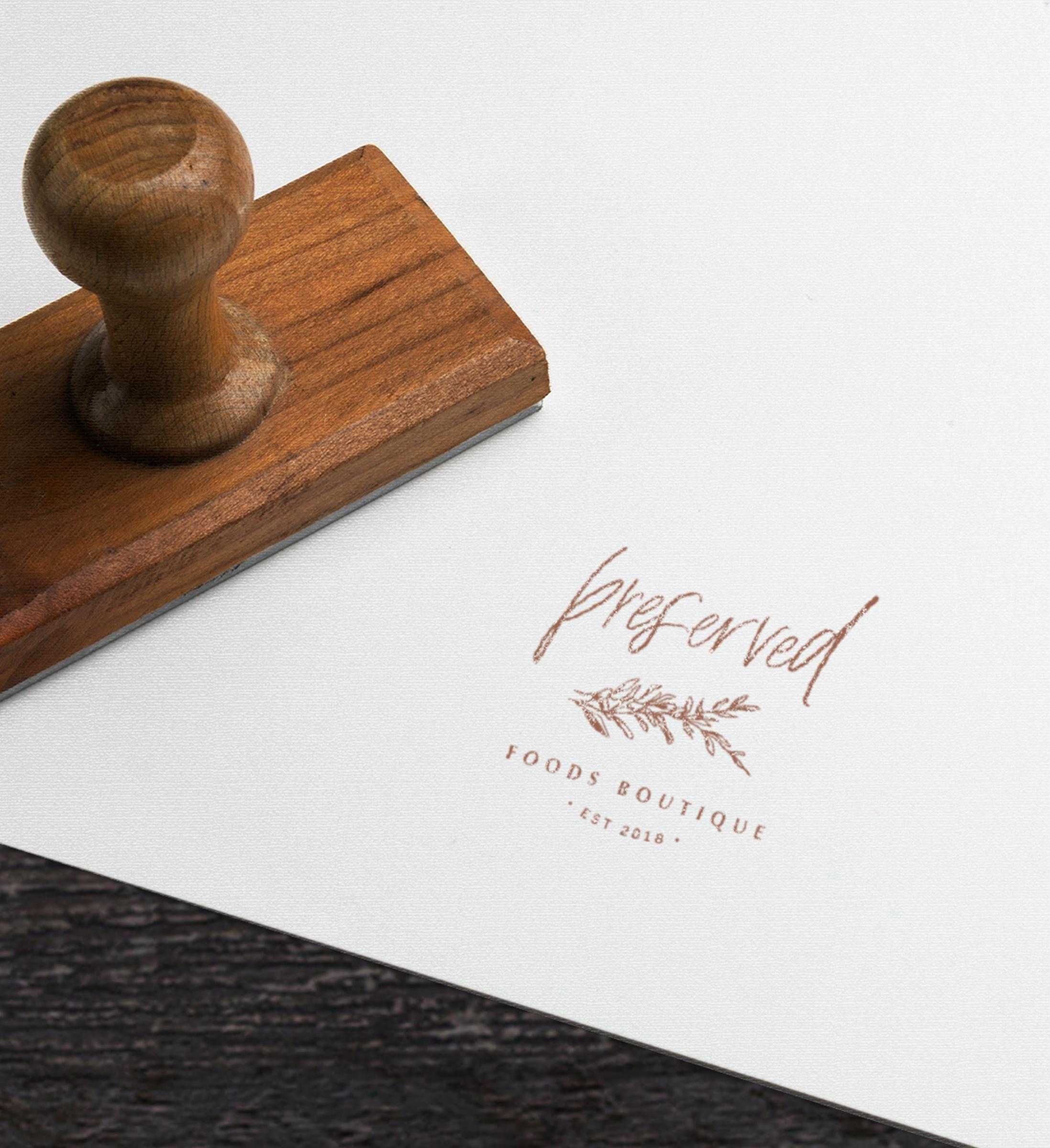 Preserved Foods Boutique // Logo Design // Bexley Design Co