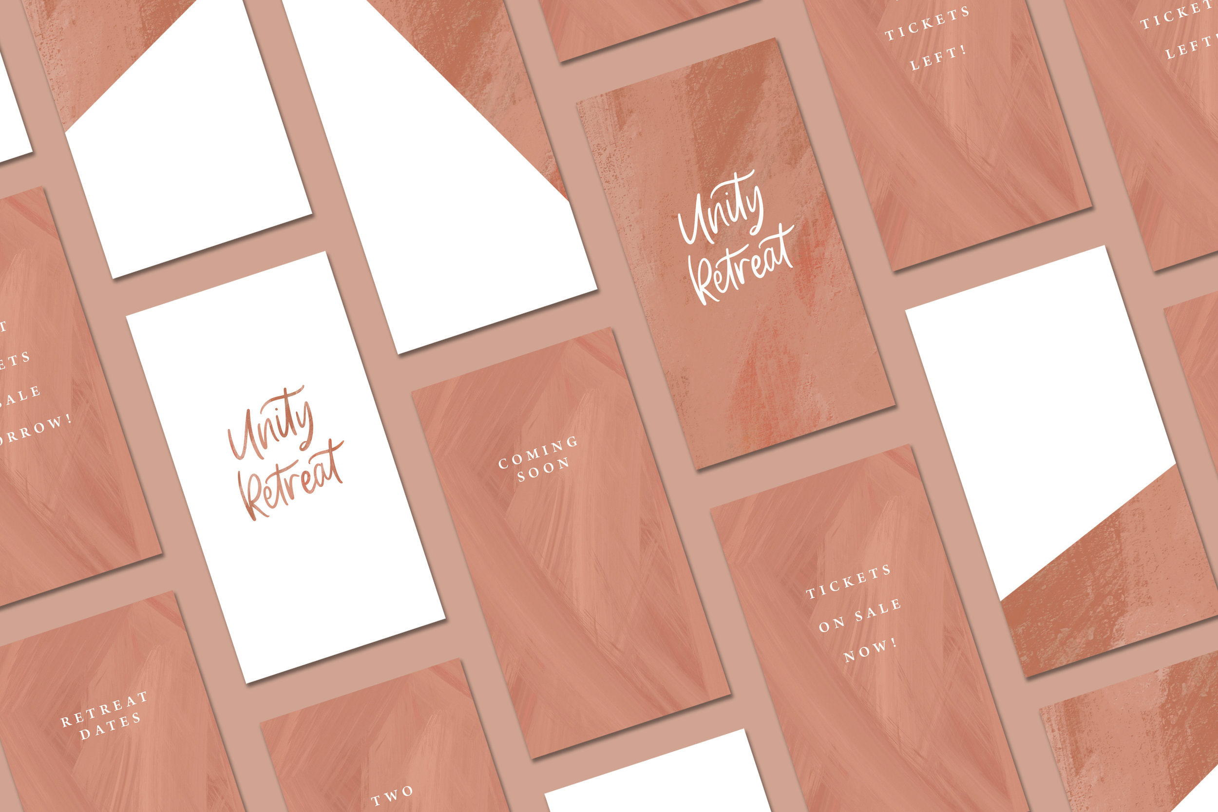 Unity Retreat - Event Logo Design and Social Media Kit - Bexley Design Co Branding