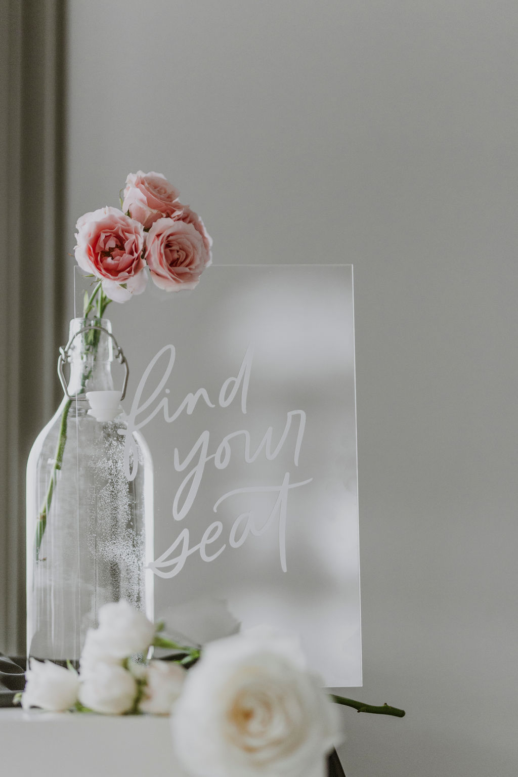 Find Your Seat Acrylic Signage - Bexley Design Co