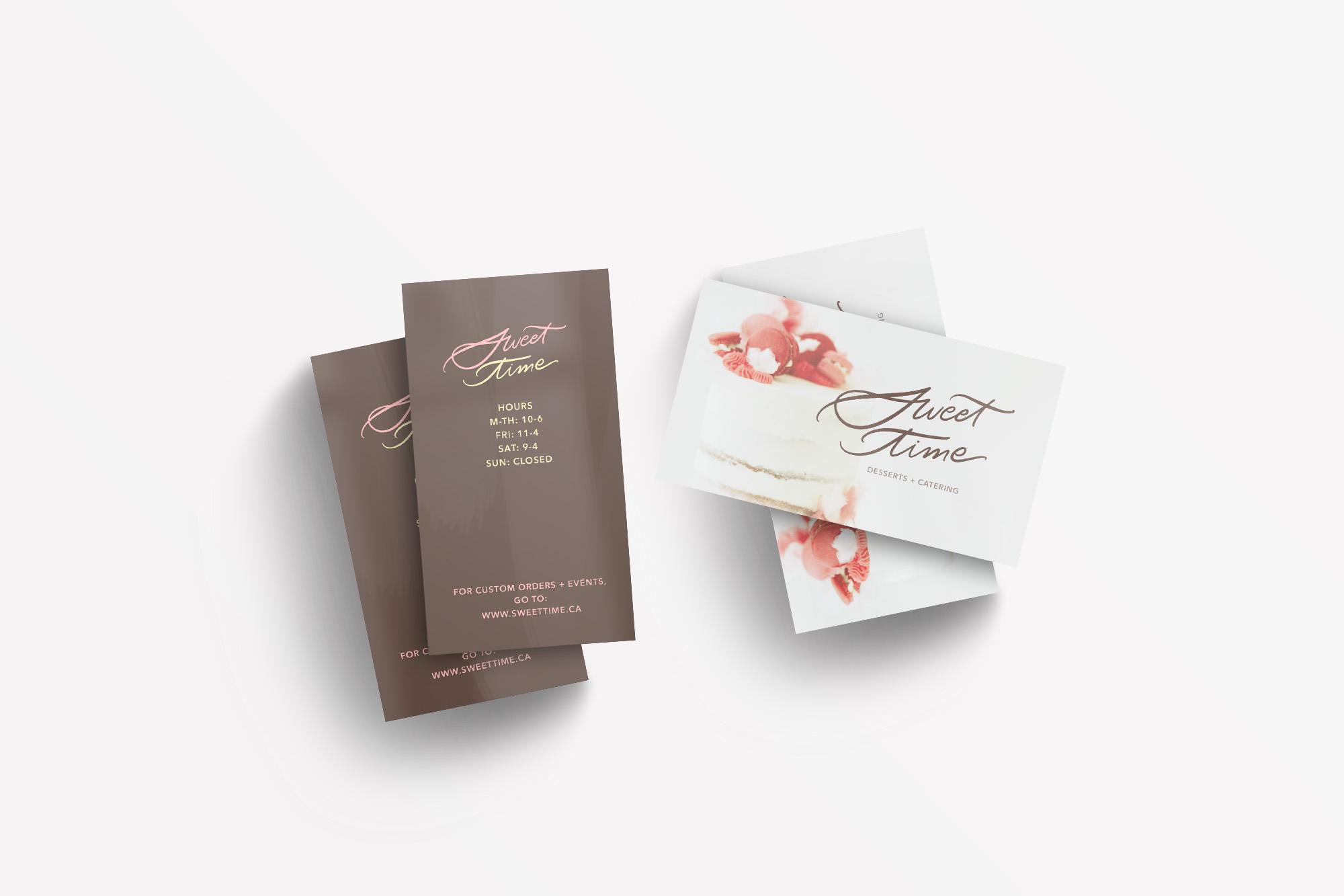 Branding Portfolio - Sweet Time Logo Design and Branding Package - Bexley Design Co