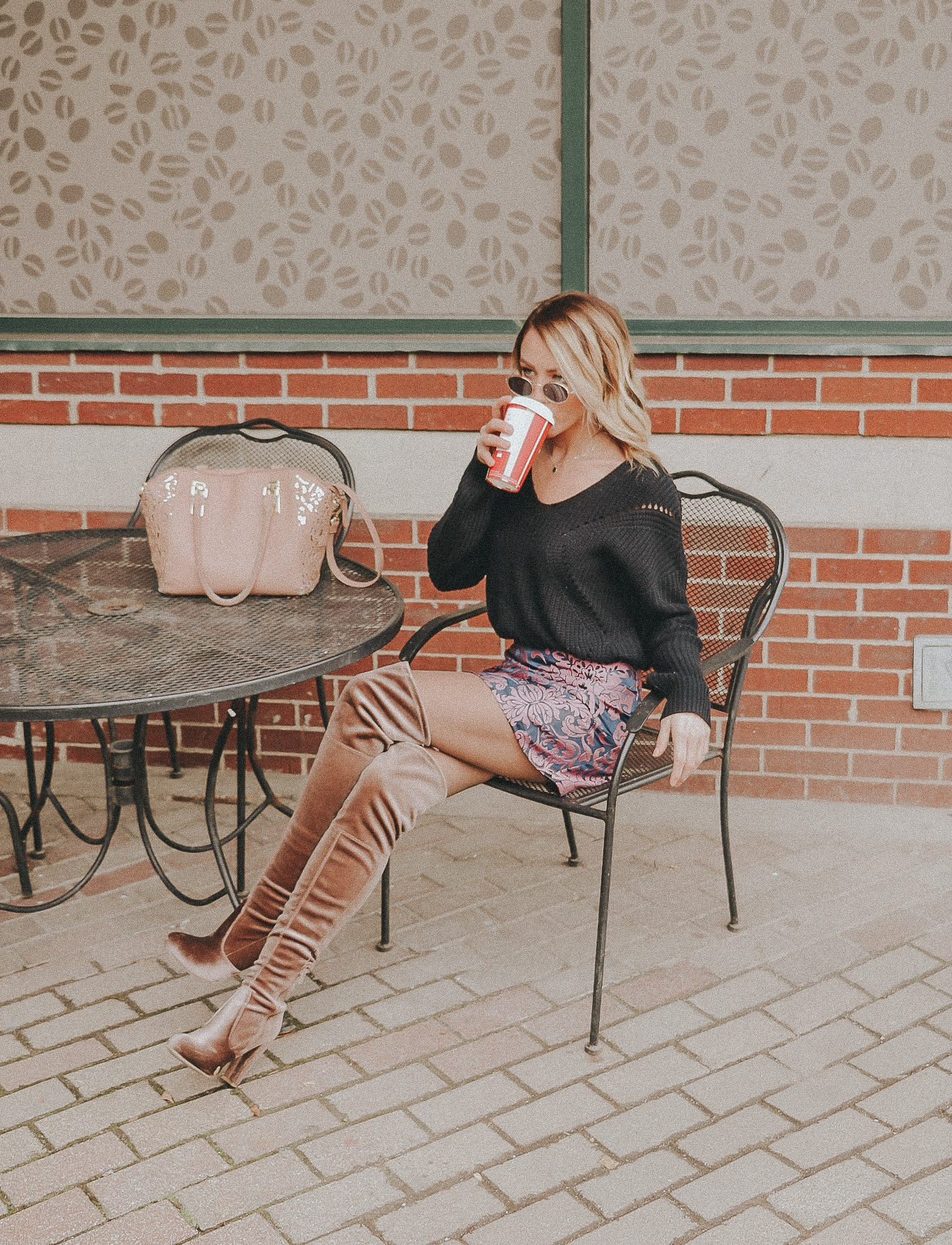 Shop this look!  Sweater   OTK Boots