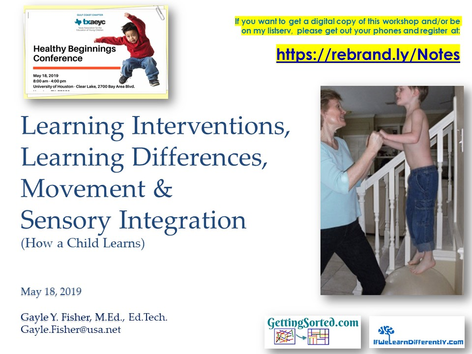 2019 Healthy Beginnings Fisher Learning Interventions Learning Differences  Sensory Integration How a Child Learns 05 18 19.jpg
