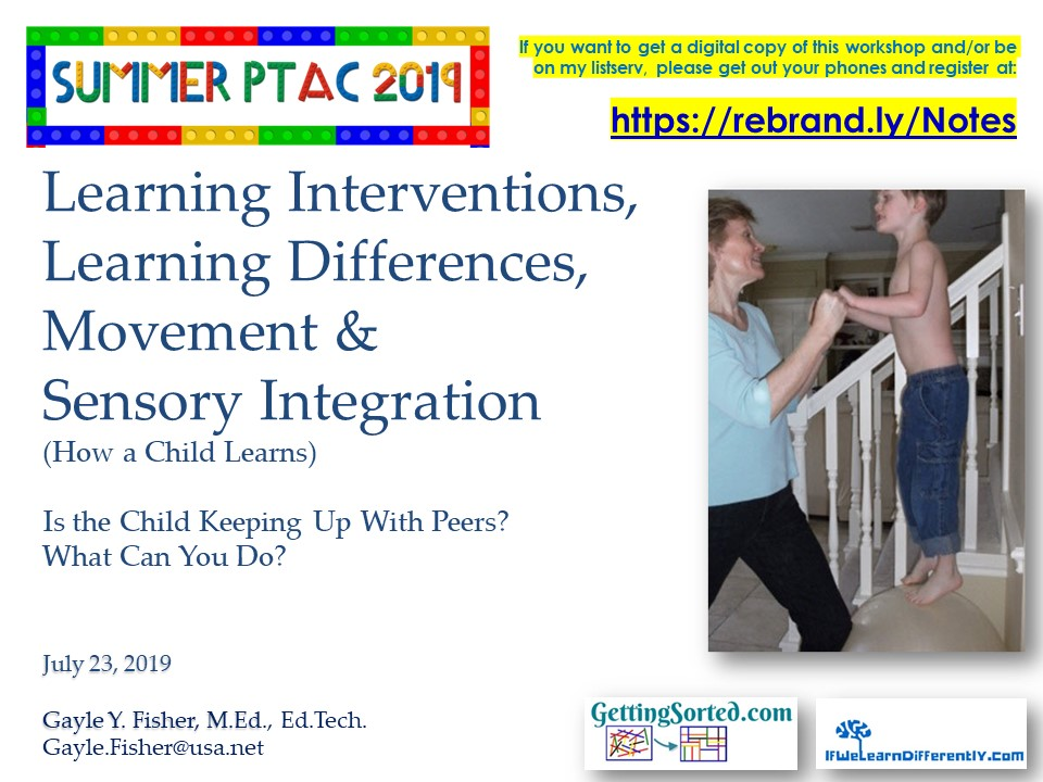 2019 PTAC Fisher Learning Interventions Learning Differences  Sensory Integration How a Child Learns 07 23 19.jpg