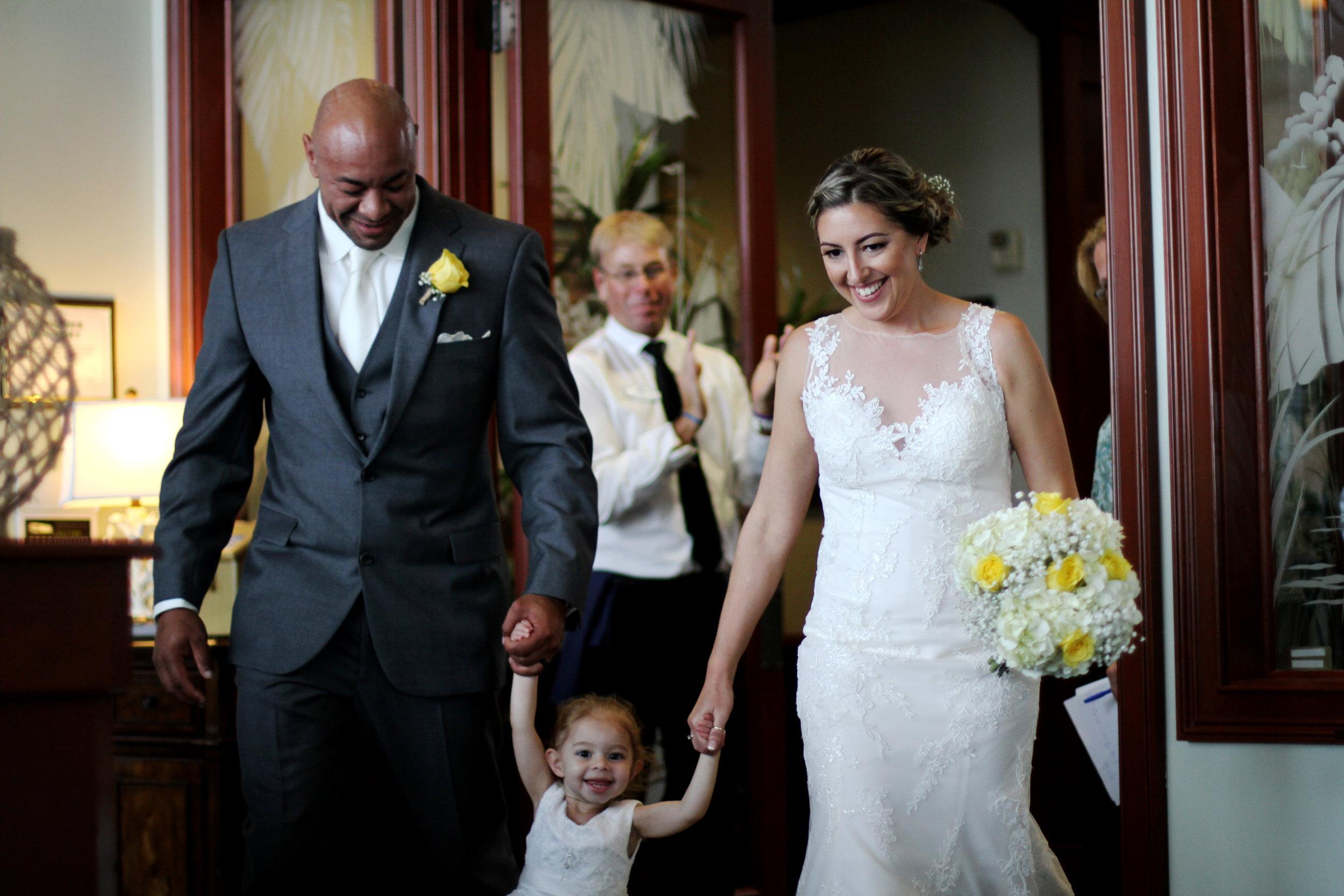 Jason and Claira wedding reception entrance