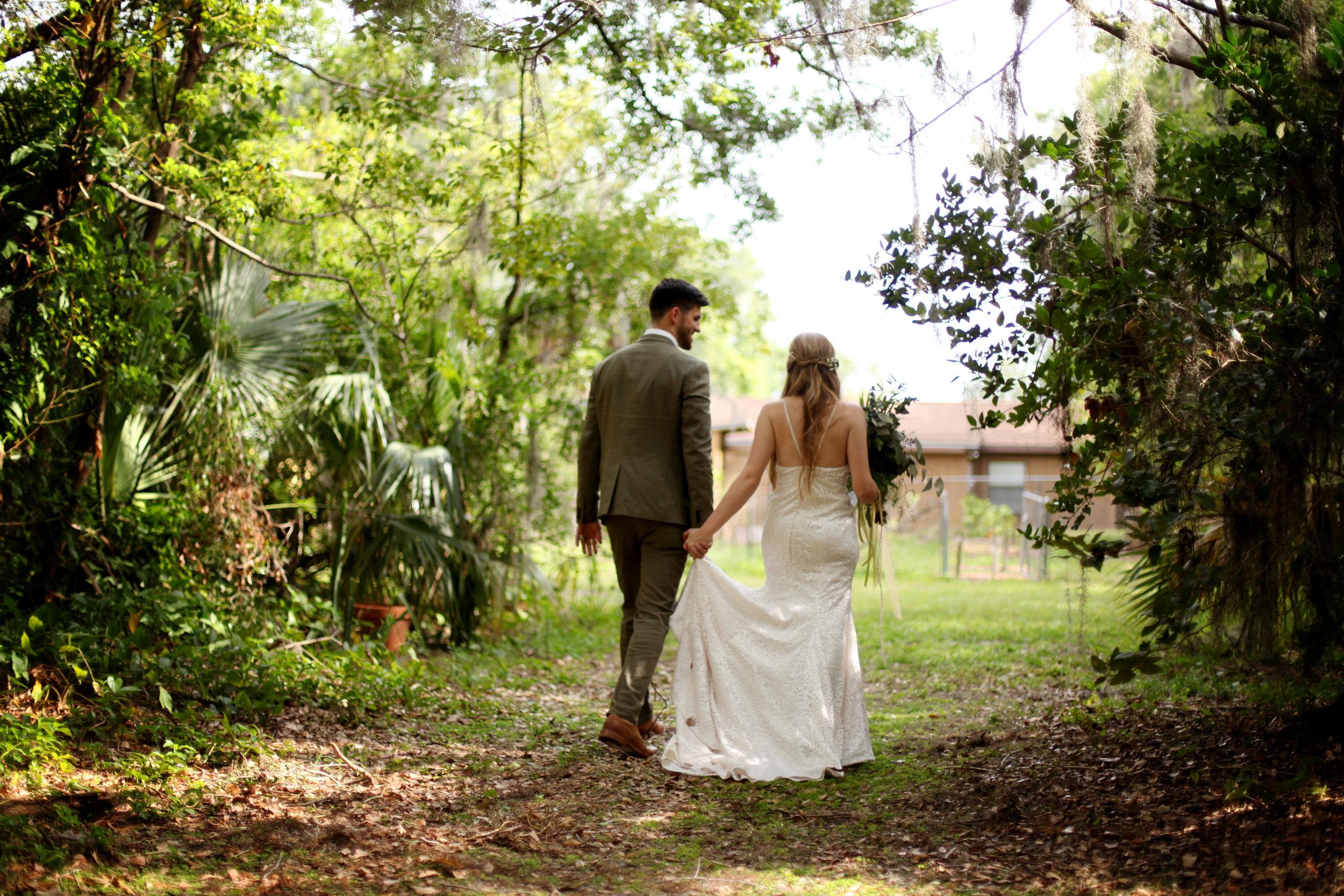 Walking through a magical Florida forest