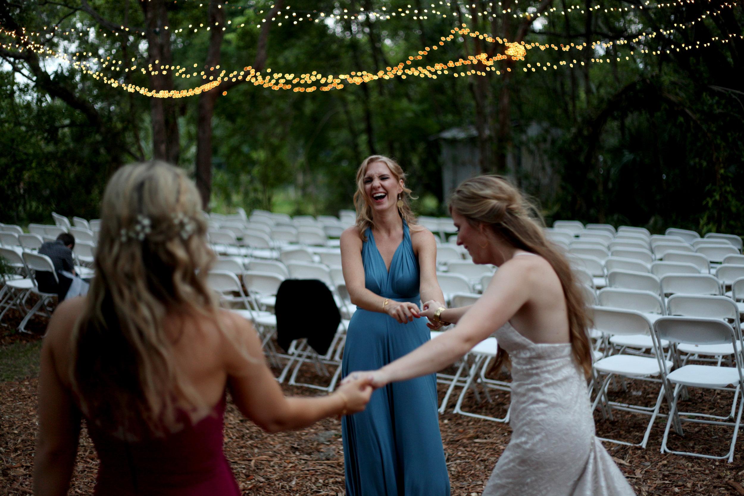 The bridesmaids dance