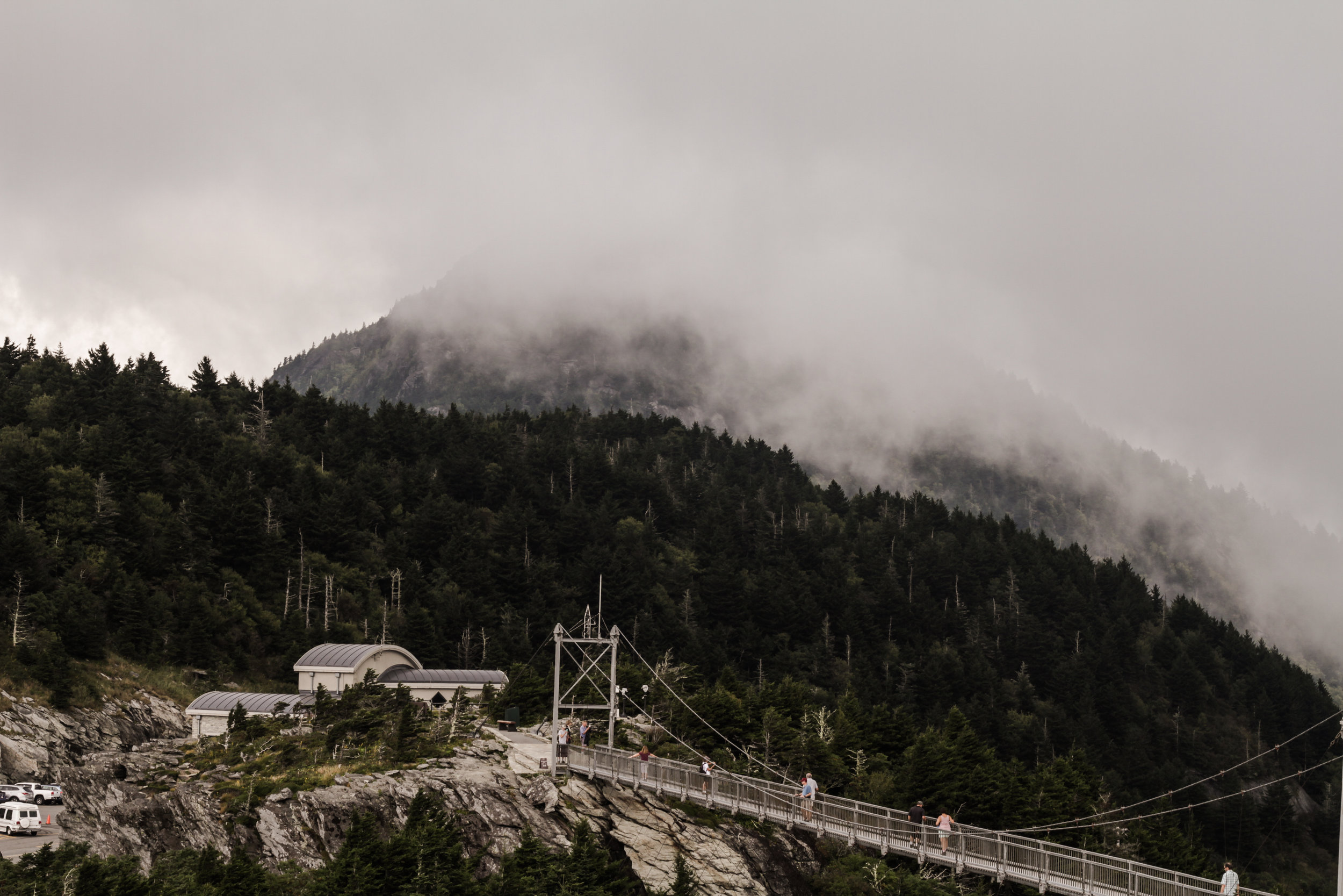 Grandfather Mountain in the Fog