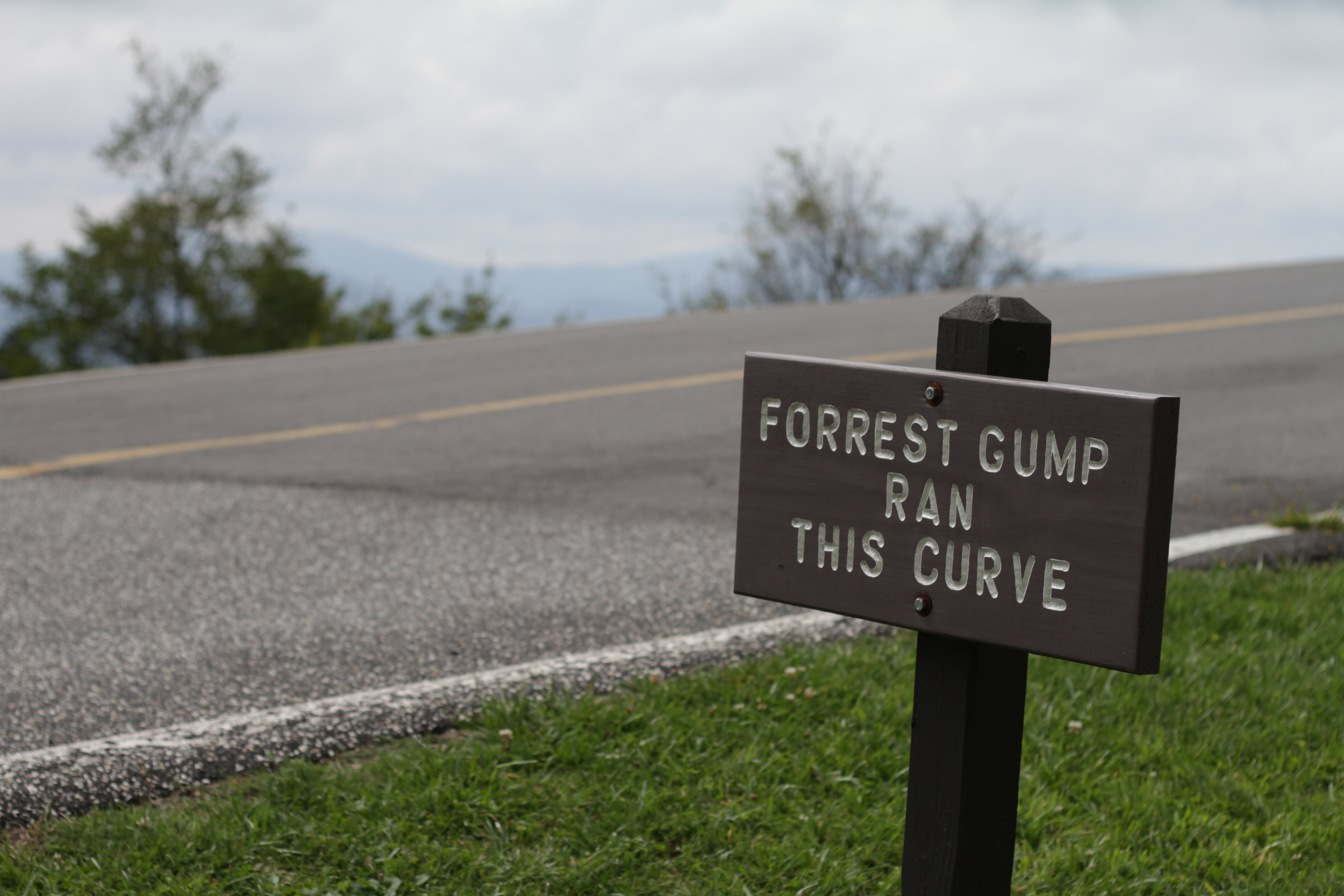 Grandfather Mountain Forrest Gump Sign