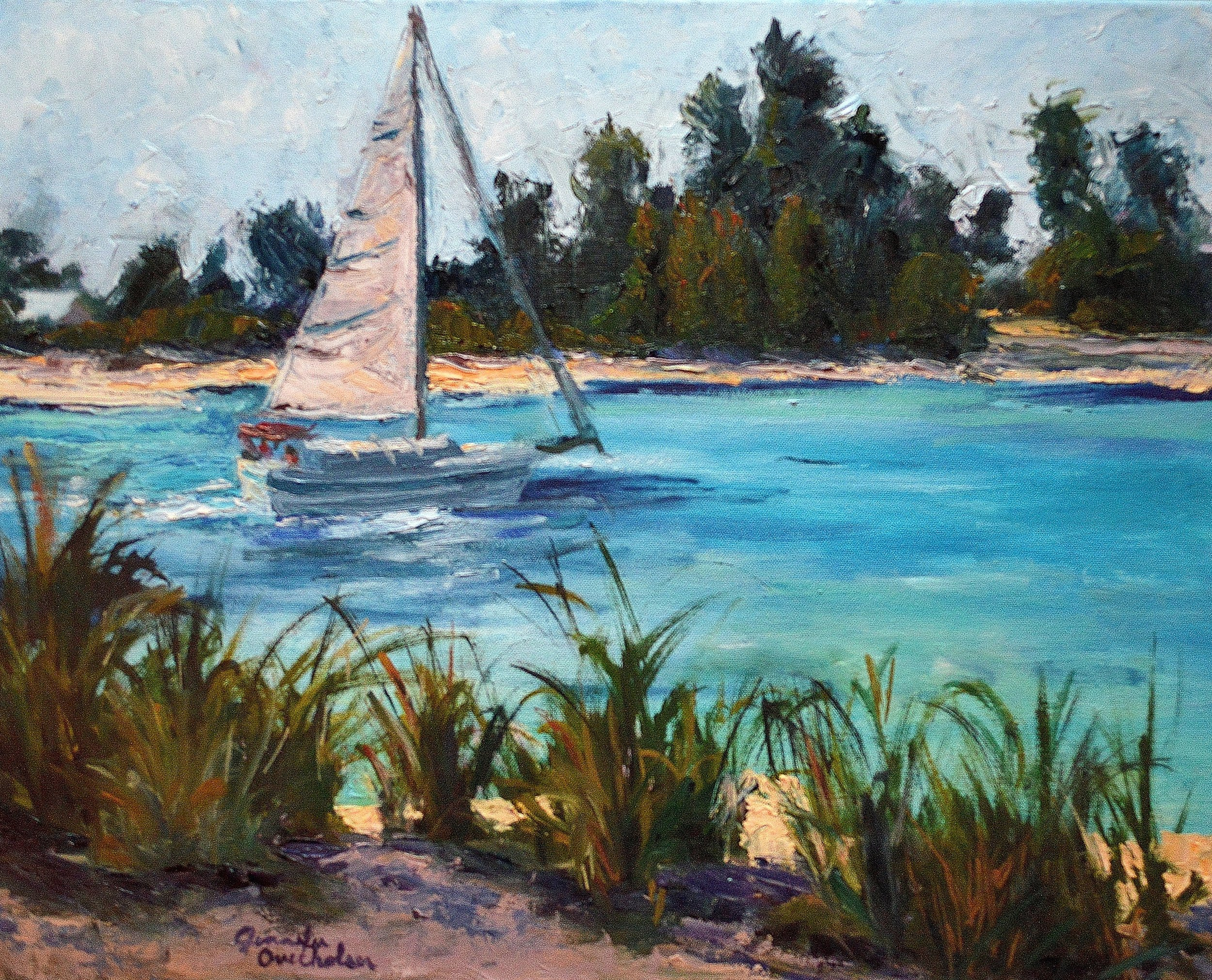 Solo show announcement! - Please join us for an artist reception July 13th, 1:00 - 3:00 at the Conneaut Arts Center, located at 1025 Buffalo Street, Conneaut, Ohio.This solo show features Impressionist paintings of our current Ohio landscapes and scenes from travels across the country. Each painting in the show represents a transition in someway, whether it be a new way of painting or moving from one stage of life to another. Come see the vibrant colors of the paint in person and hear stories first hand from the artist. See you there!