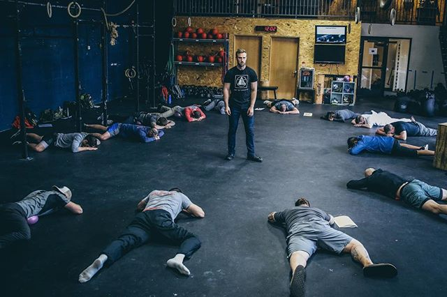 "remain calm __ ""one of the best lessons you can learn in life is how to remain calm"" ~ bruce lee __ it will take far more than sitting in lotus position, or laying down in bed. that tissue also needs to be treated. ironically we're all breathing during leetle stretches and mobility sessions already... @kevinkirschdpt showing some examples of breath related mobility work with the @yogatuneup ball at the art of breath.  __ @powerspeedendurance @preparetoperform @dsyeager7 @rvcasport #artofbreath photo cred: @samanthacys33"