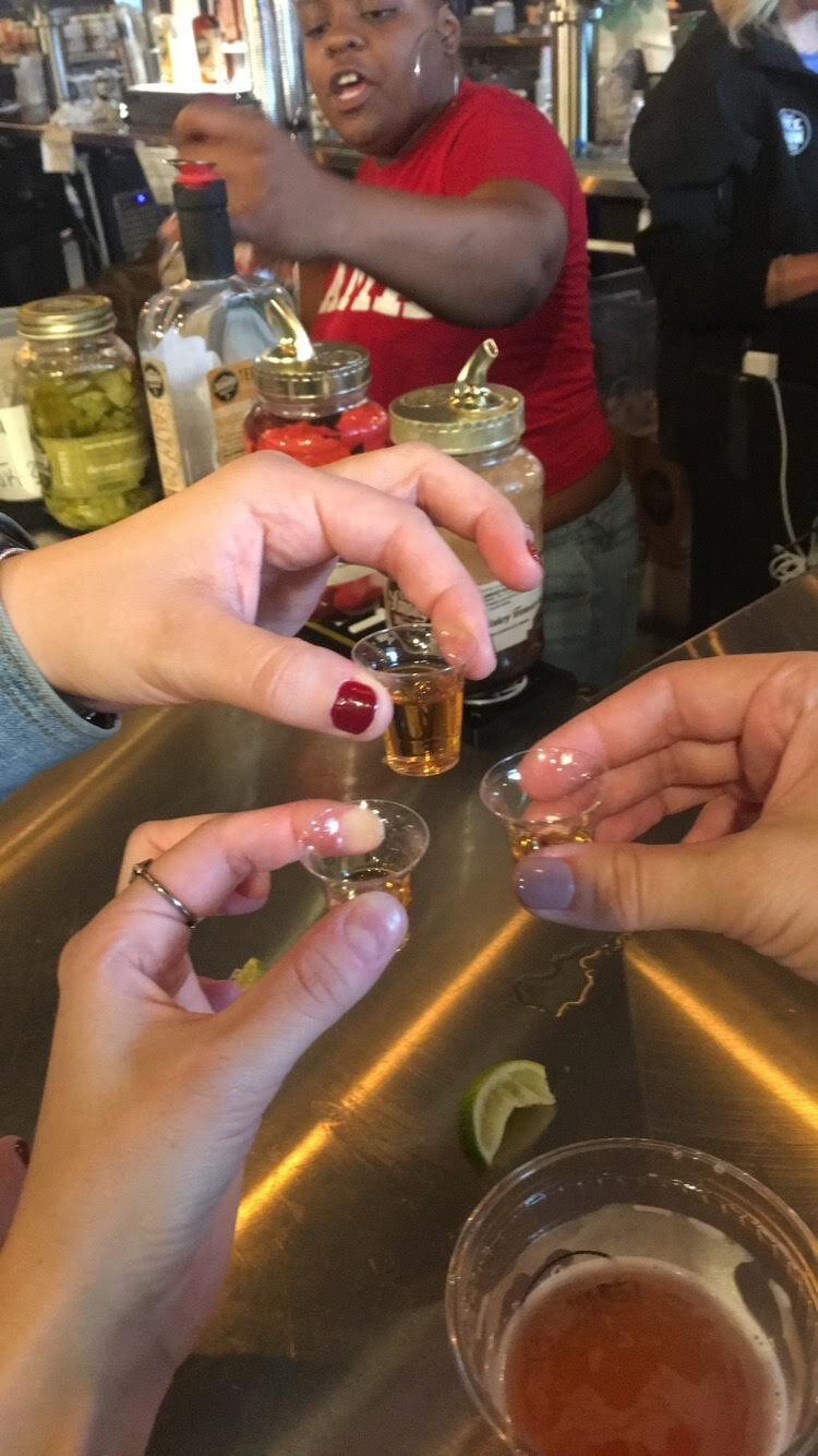 Whiskey Shot at Ole Smokey
