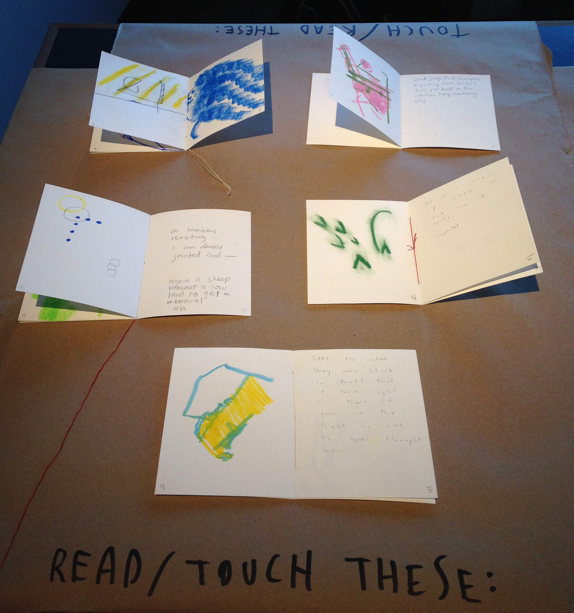 student work from workshop at The Evergreen State College, 2011