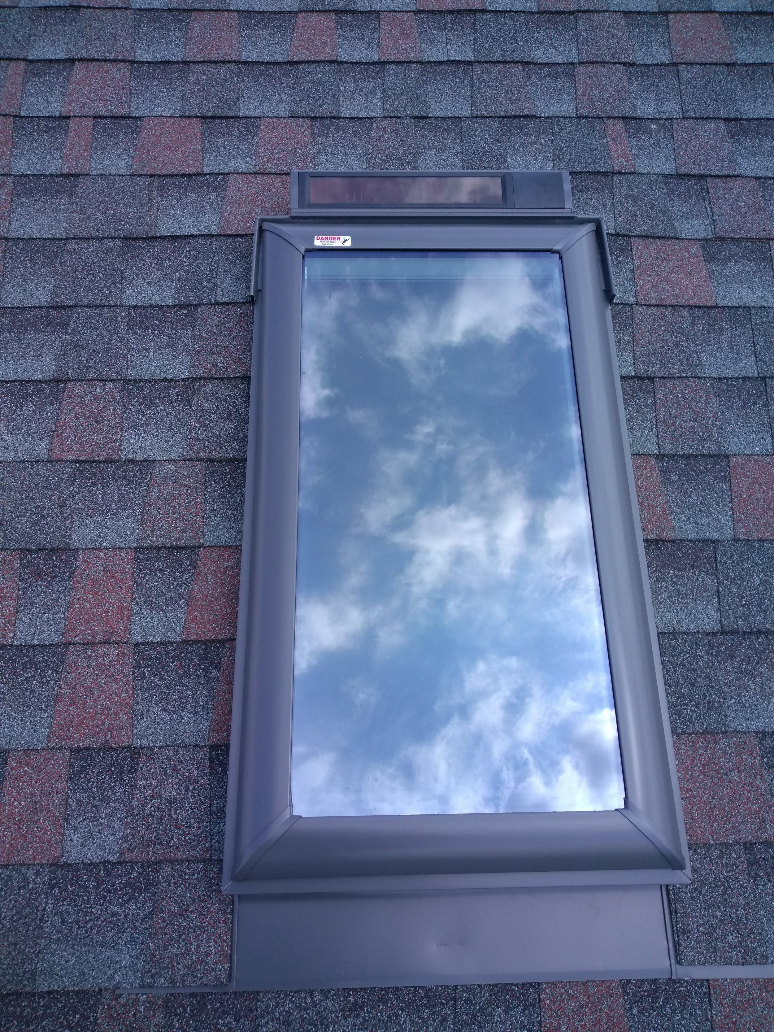 Installed a new skylight with a new Solar Powered Velux model.