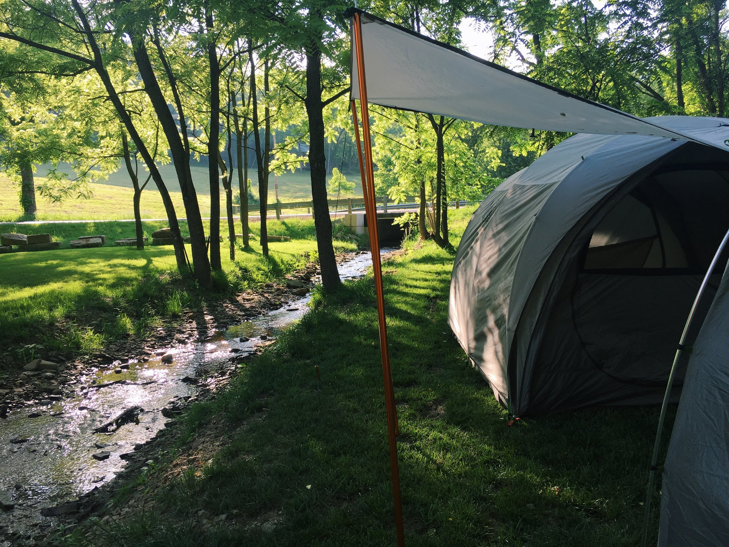 camping, tent, rei, creekside, nature, adventure