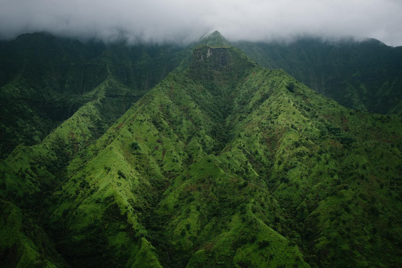 Famous Napali ridges