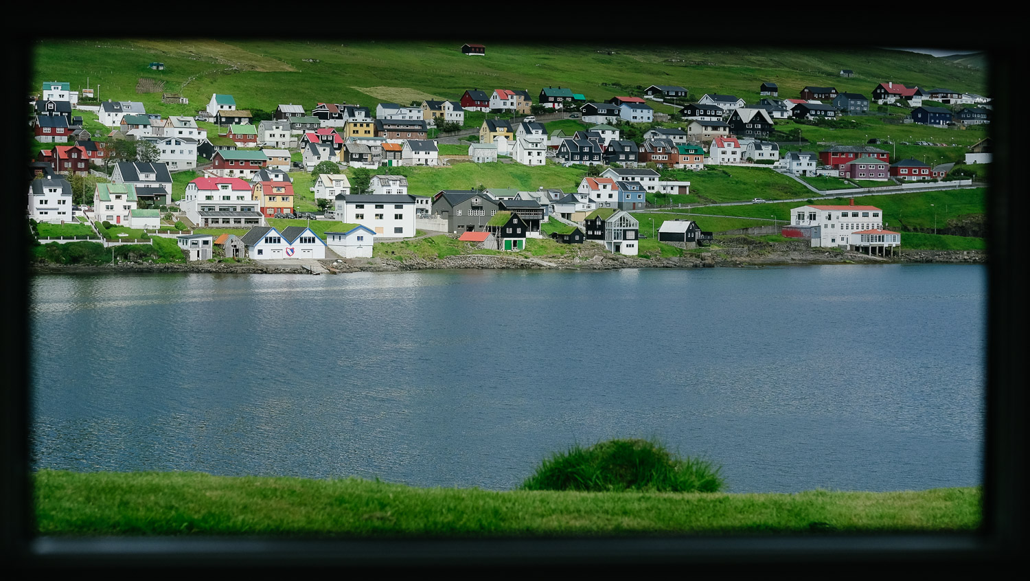 The view from our AirBnB in Vagar, The Faroe Islands.