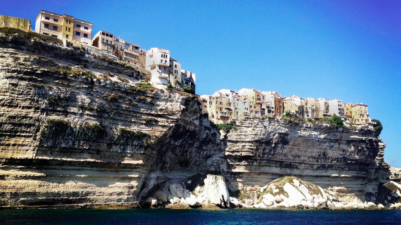 The cliffs of Bonifacio in Corsica