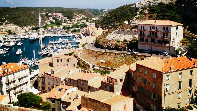 The port of Bonifacio in Corsica