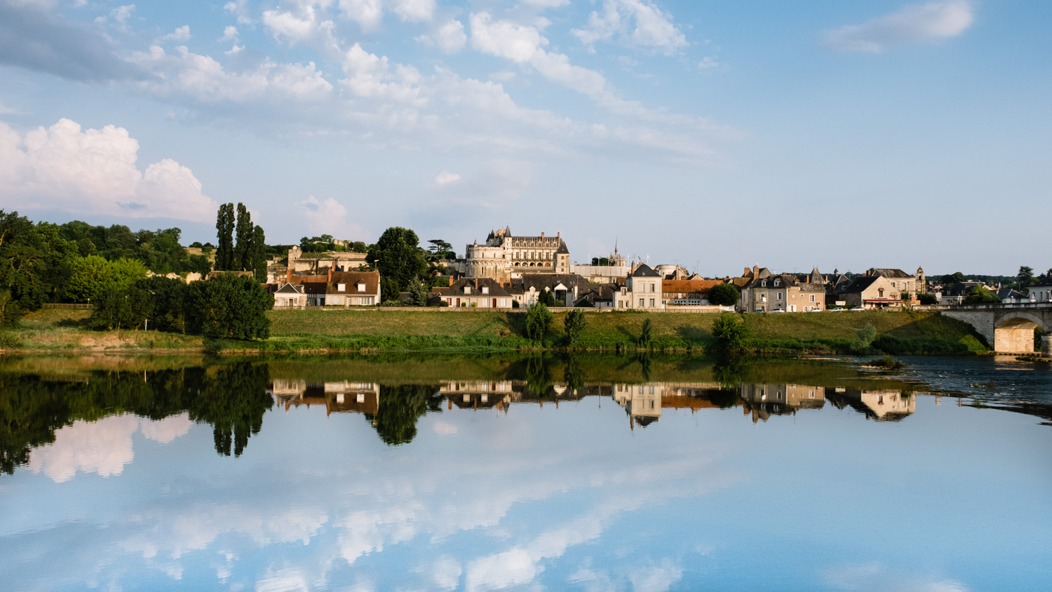 View of Amboise from across the Loire River