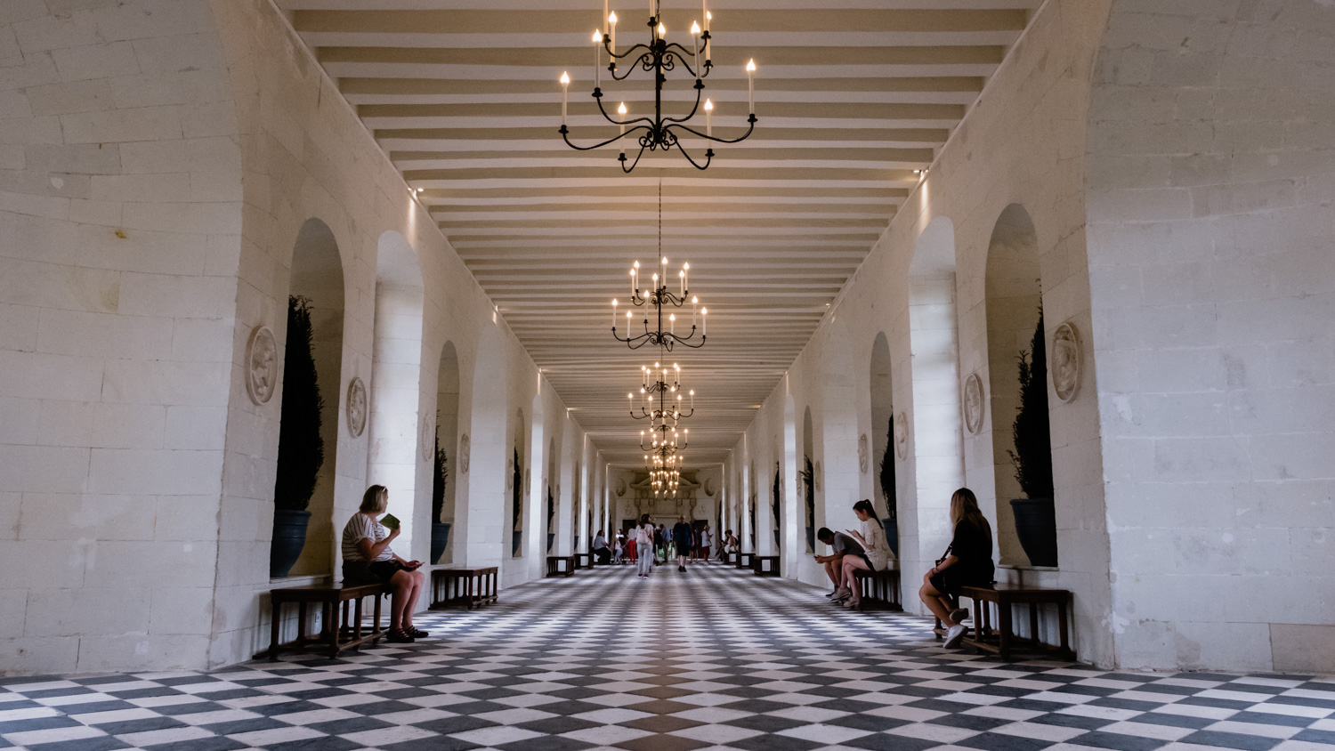 "Interior halls of The Château de Chenonceau - Travel photography and guide by © Natasha Lequepeys for ""And Then I Met Yoko"". #loirevalley #france #travelguide #travelphotography #valdeloire"