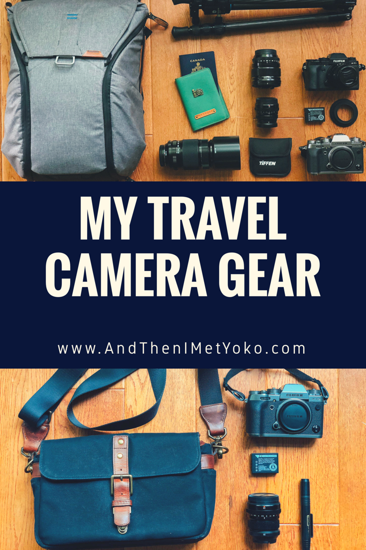 My favourite travel and street photography camera gear. Including some of my favourite brands like Fujifilm, Peak Design and Ona. #fujifilm #fujifilmxt2 #streetphotography #travelphotography #peakdesign