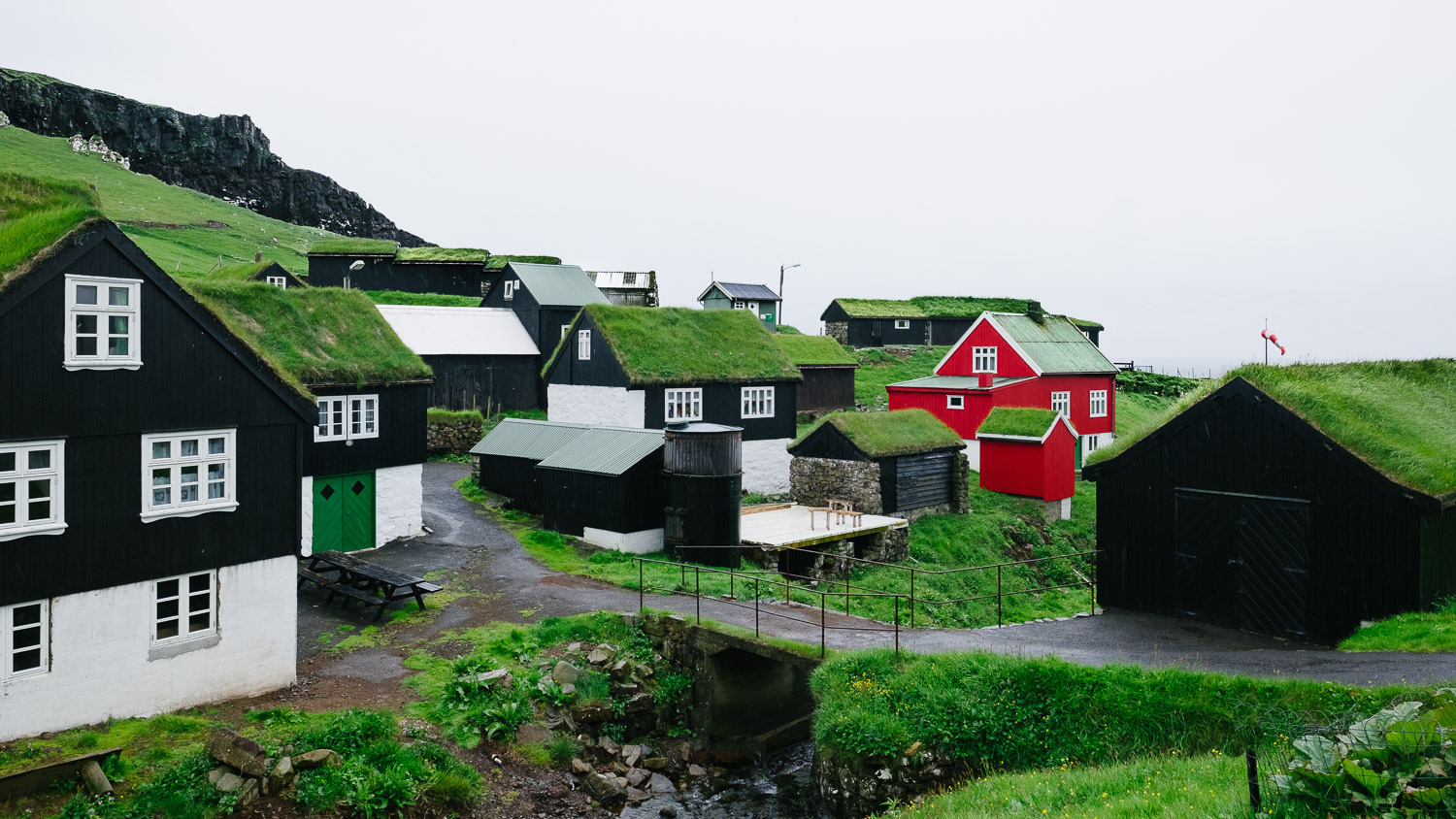 The town of Mykines