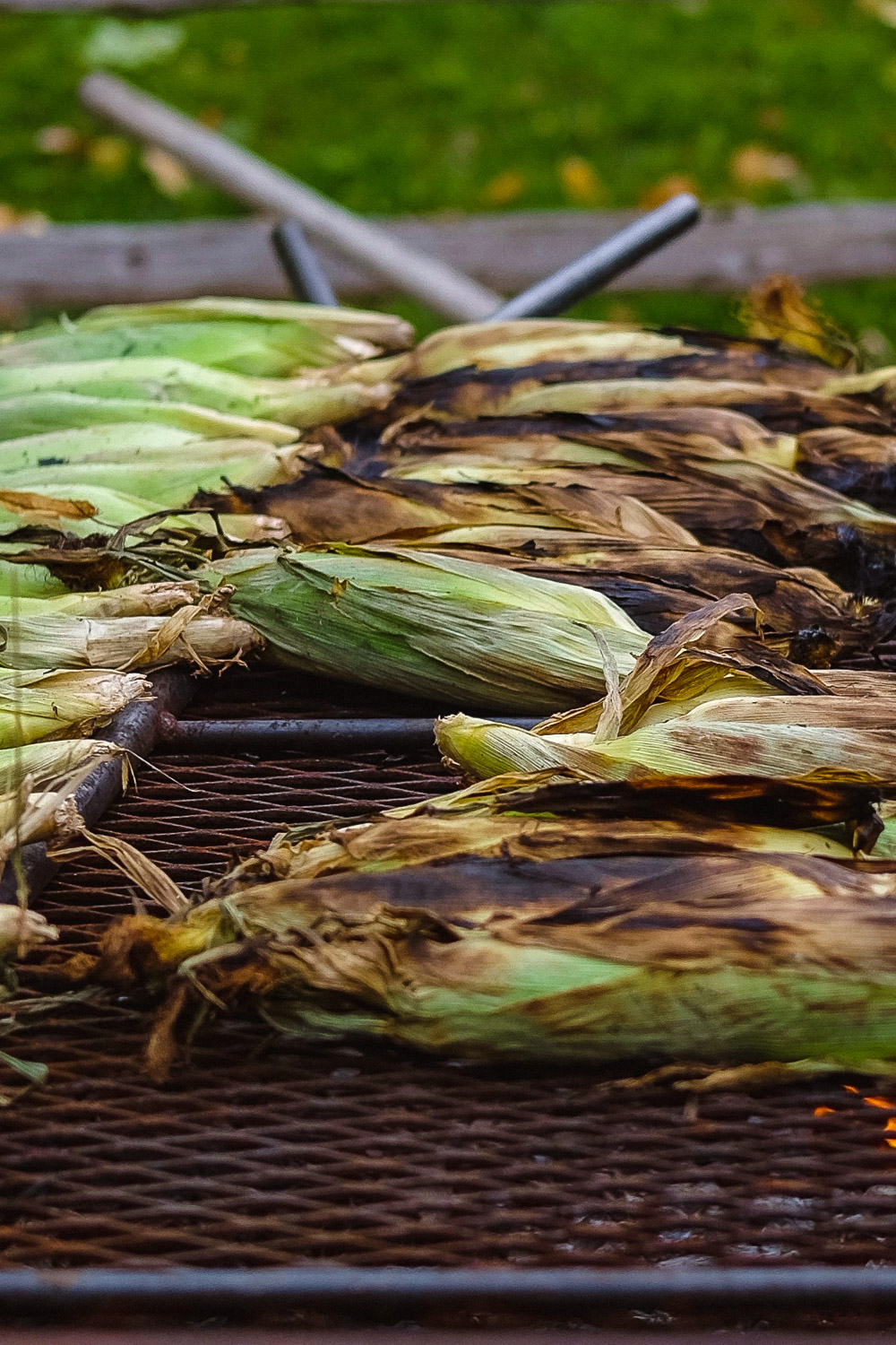 Corn on the grill at Chudleigh's Apple Farm