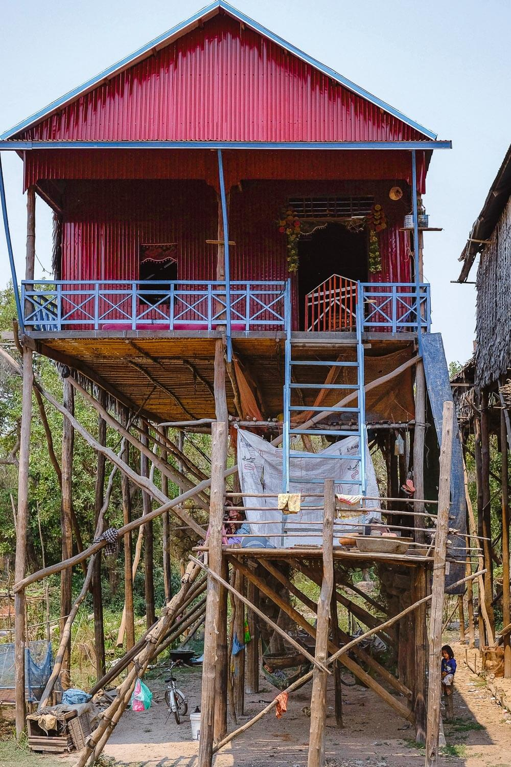 Colourful stilt houses in the Siem Reap backcountry.     #siemreap #angkorwat #travelguide #siemreapitinerary #cambodia #travelphotography #landscapephotography #fujifilm #siemreapprivatetour