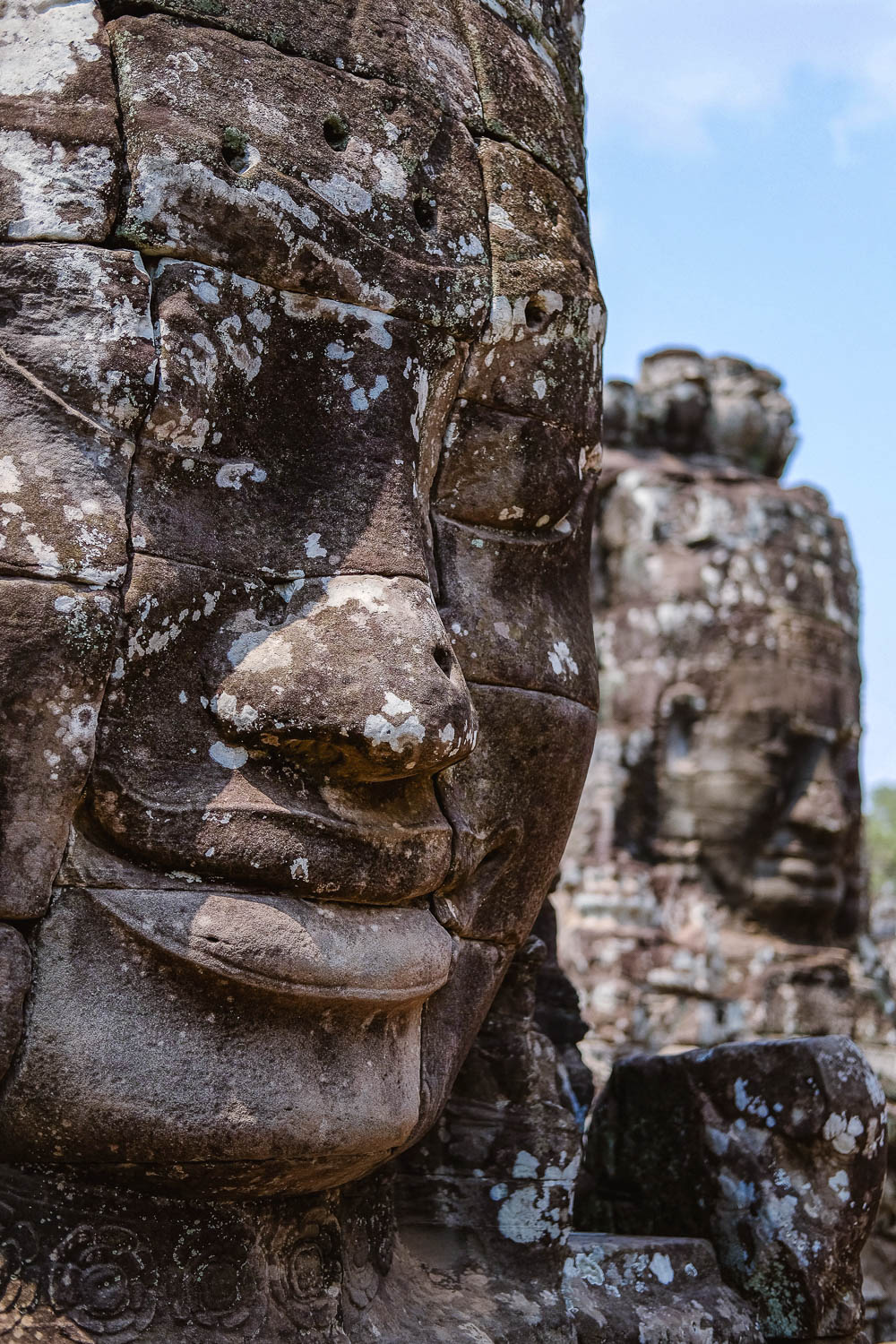 Faces in the Temple of Bayon.     #siemreap #templebayon #travelguide #angkorwat #siemreapitinerary #cambodia #travelphotography #landscapephotography #fujifilm #siemreapprivatetour