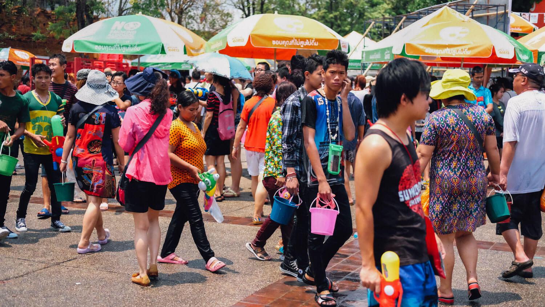 "Songkran, Chiang Mai.     Travel photography and guide by © Natasha Lequepeys for ""And Then I Met Yoko"". #thailand #travelguide #travelphotography #streetphotography #itinerary #fujifilm #songkran"
