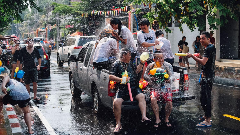 "Songkran festival (Thai new year) in Chiang Mai, Thailand. Travel photography and guide by © Natasha Lequepeys for ""And Then I Met Yoko"". #thailand #seasia #travelguide #photoblog #travelblog #travelphotography #landscapephotography #travelitinerary #fujifilm #krabi #bangkok #chiangmai #pattaya #celebration #streetparty #waterfight #beachvacation #streetphotography #honeymoon #songkran"