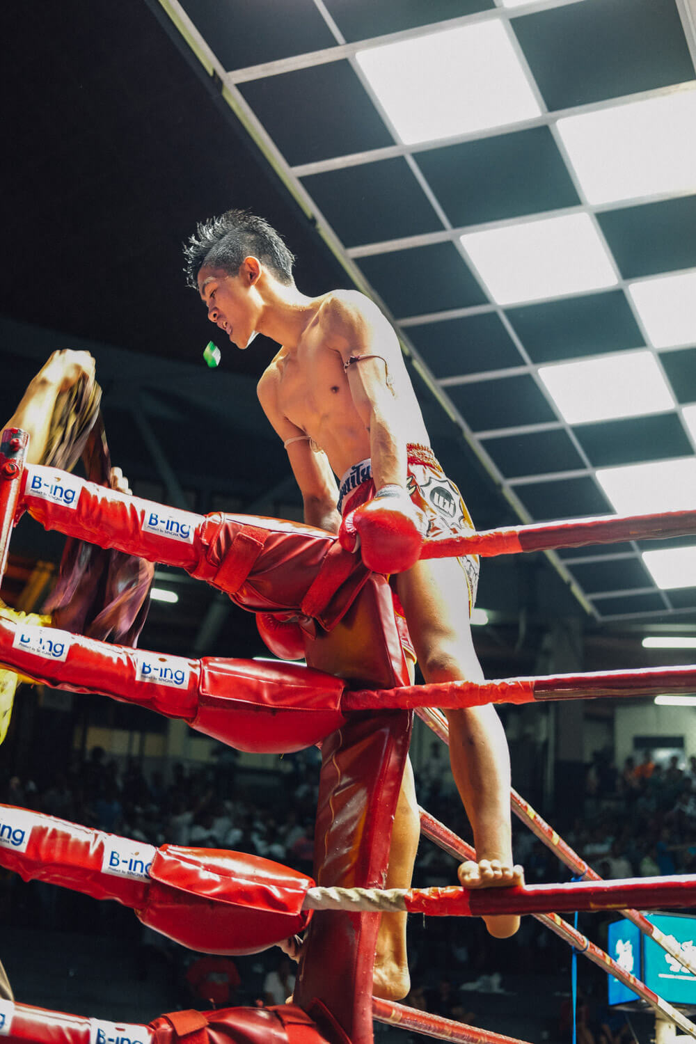 """Muay Thai fighter, Bangkok. Travel photography and guide by © Natasha Lequepeys for """"And Then I Met Yoko"""". #thailand #travelguide #travelphotography #travelitinerary #fujifilm #muaythai"""