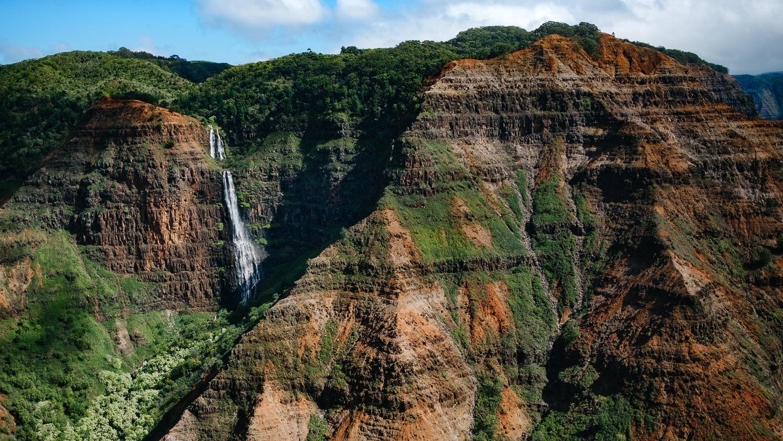 "Waimea Canyon from the helicopter, Kauai. Travel photography and guide by © Natasha Lequepeys for ""And Then I Met Yoko"". #hawaii #travelguide #photoblog #travelblog #landscapephotography #fujifilm"