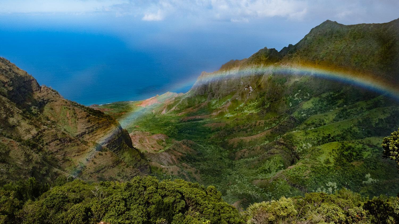 "View from Pu'u O Kila Lookout, Kauai. Travel photography and guide by © Natasha Lequepeys for ""And Then I Met Yoko"". #hawaii #travelguide #photoblog #travelblog #landscapephotography #fujifilm"