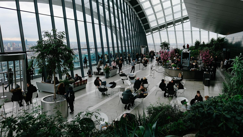Inside the Sky Garden in London