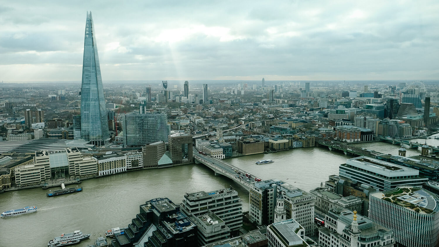 View of the London Shard from the Sky Garden