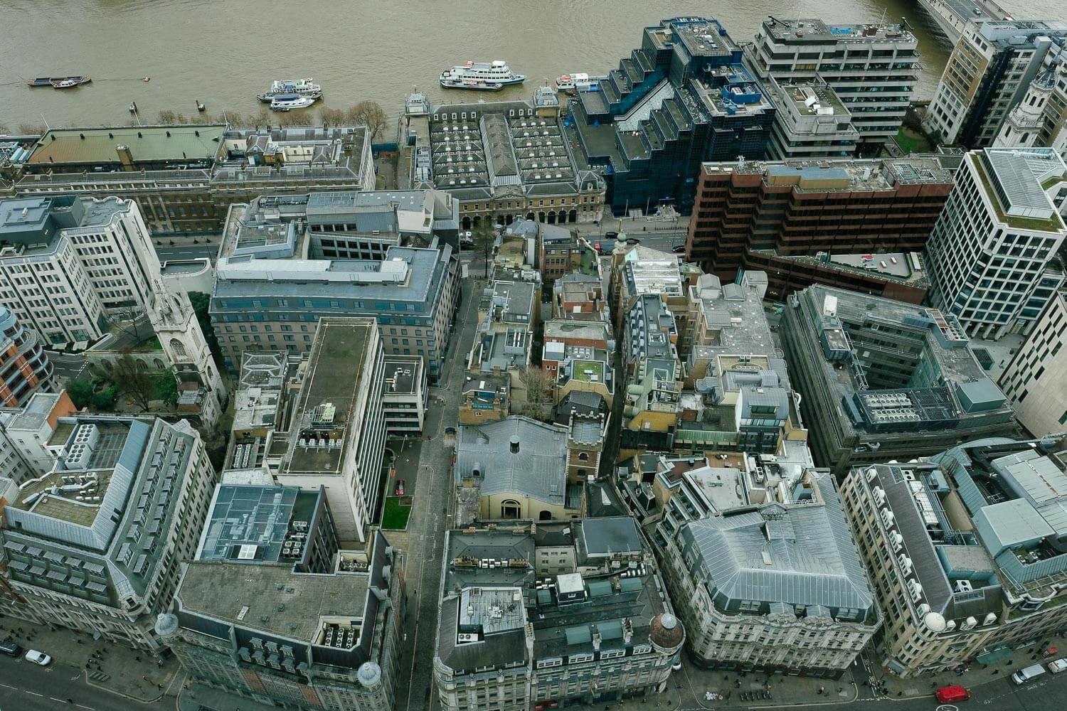 Aerial View of London from the Sky Garden