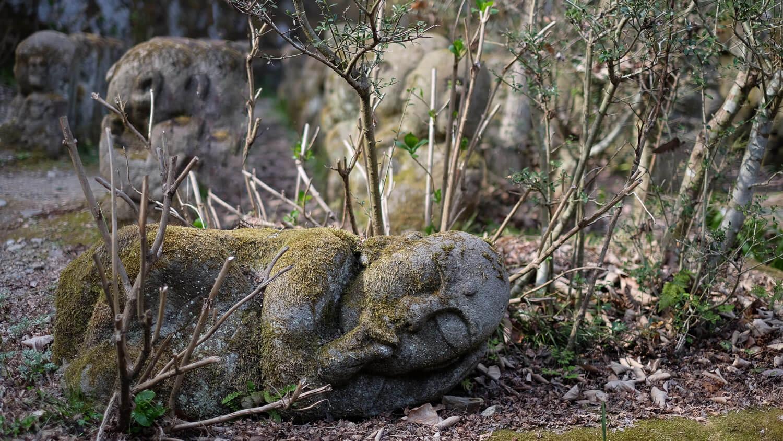 "A sleeping buddha at Otagi Nenbutsu-Ji, Kyoto. Travel photography and guide by © Natasha Lequepeys for ""And Then I Met Yoko"". #japan #japanitinerary #travelblog #fujifilm #asia"