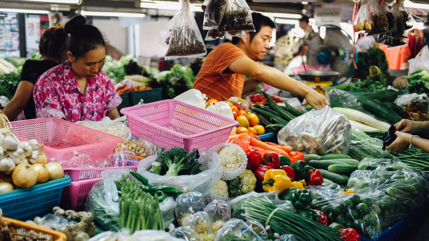 """Market in Chiang Mai. Travel photography and guide by © Natasha Lequepeys for """"And Then I Met Yoko"""". #thailand #travelguide #travelphotography #travelitinerary #fujifilm #foodie #cookingclass"""