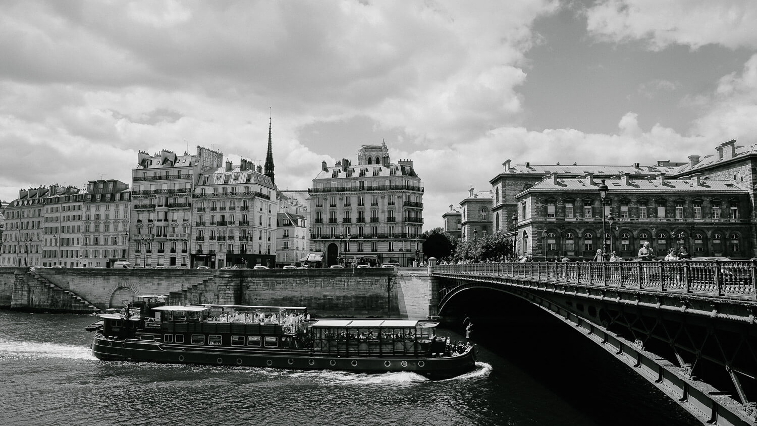 "A boat in the Seine River, Paris. Travel photography and guide by © Natasha Lequepeys for ""And Then I Met Yoko"". #paristravel #photoblog #travelguide #france #parisitinerary"