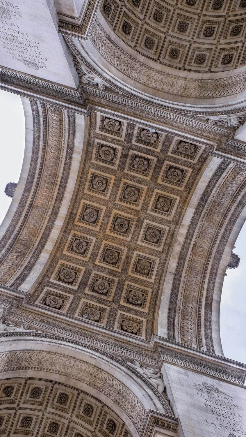 "The intricate carvings on the Arc de Triomphe, Paris. Travel photography and guide by © Natasha Lequepeys for ""And Then I Met Yoko"". #paristravel #photoblog #travelguide #france #parisitinerary"