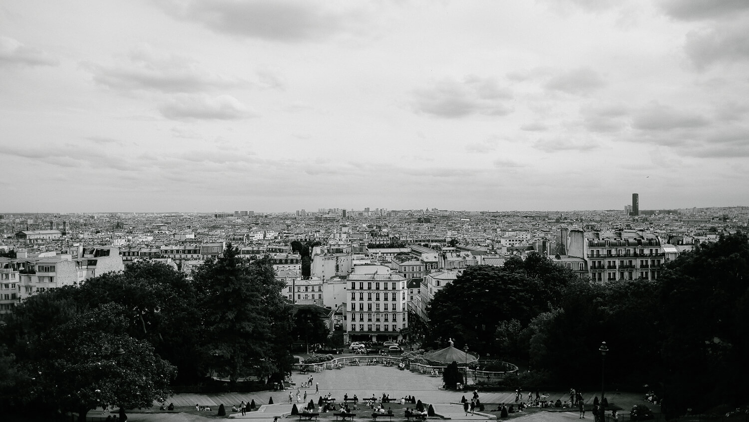 "View of Paris from Montmartre. Travel photography and guide by © Natasha Lequepeys for ""And Then I Met Yoko"". #paristravel #photoblog #travelguide #france #parisitinerary"