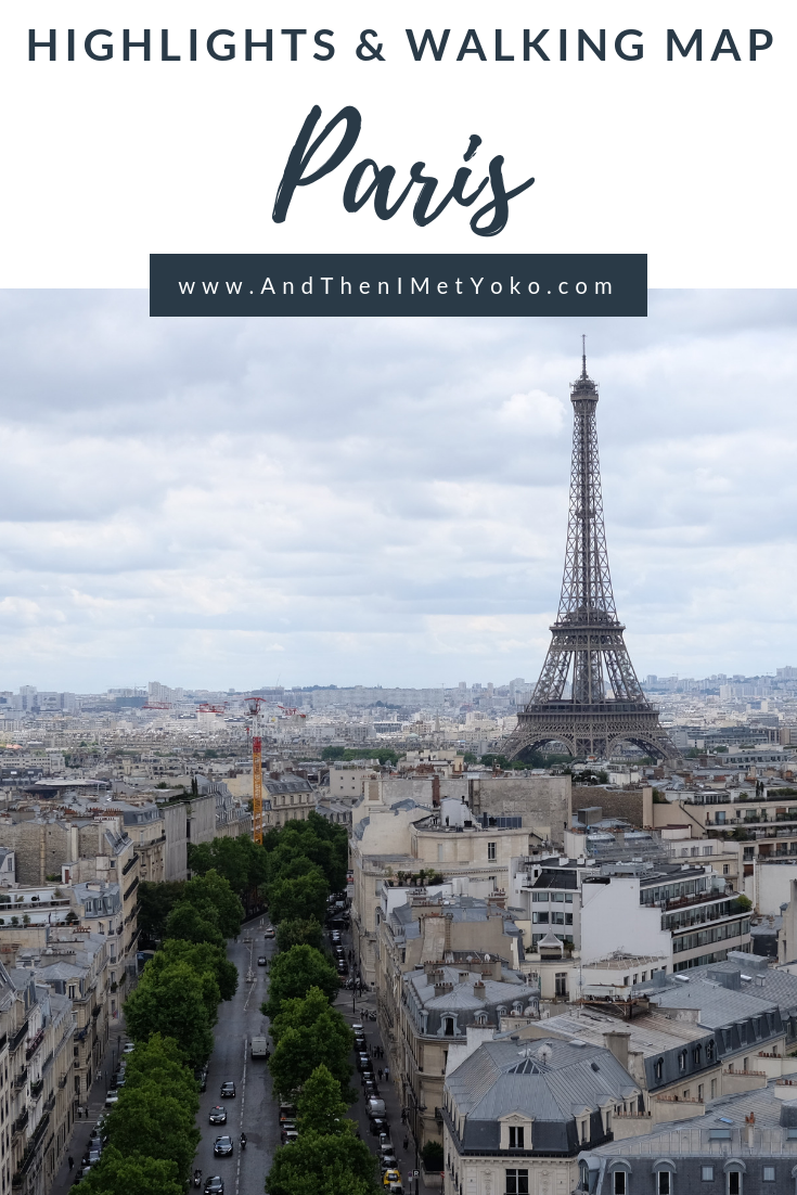 "A travel guide to Paris including a map with a flexible itinerary depending on your travel time. Plus tips for food and sights. Travel photography and guide by © Natasha Lequepeys for ""And Then I Met Yoko"". #paris #paristravel #photoblog #travelguide #france #parisitinerary #parishighlights #parissights #travelblog #travelphotography #landscapephotography #travelitinerary #fujifilm #paristravelguide #architecturephotography #europe #travelblogger #wanderlust #explore #travel"